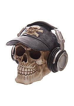 Puckator Skull with Headphones Money Box