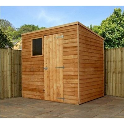7 x 5 Sutton Wooden Overlap Pent Shed Garden Wooden Shed 7ft x 5ft (2.14m x 1.54m)