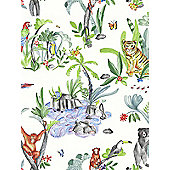 Jungle Mania Wallpaper Multi Arthouse 696008
