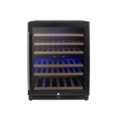 ElectrIQ 60cm Wine Cooler Full Dual Zone Black