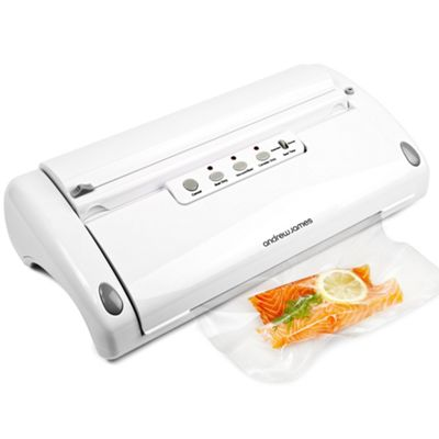 Andrew James 5 in 1 Professional Food Vacuum Sealer with Vacuum Rolls Included - White