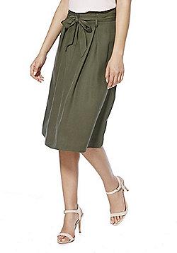 F&F Tencel® Midi Skirt - Khaki
