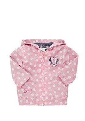 Disney Minnie Mouse Polka Dot Hooded Mac Pink 3-6 months