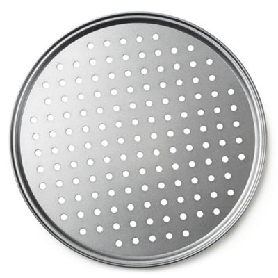 Andrew James Pizza Tray for Oven Baking - Circular Tray with Holes for a Crispy Base