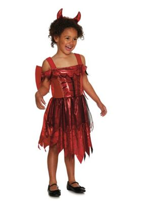 fu0026f devil halloween costume red