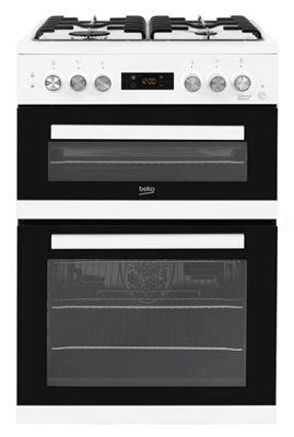 Beko Dual Fuel Cooker, 60cm Wide, KDDF653W - White