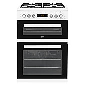 Beko Dual Fuel Cooker, 60cm Wide, KDDF653W - White