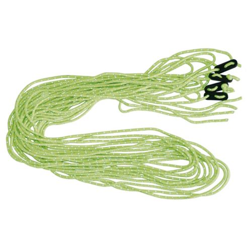 Tesco Fluorescent Guy Rope 4pk