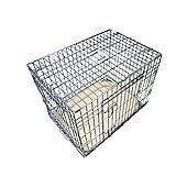 """Ellie-Bo 36"""" Large Deluxe Dog Cage Puppy Crate In Silver"""