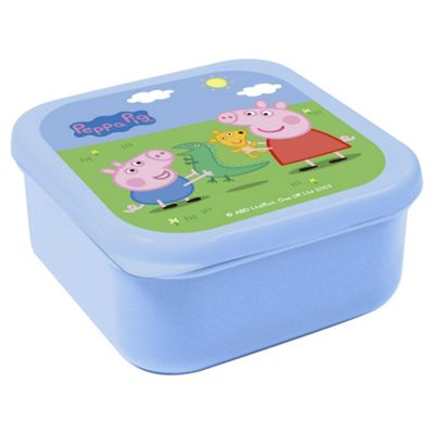 Peppa Pig u0026 George snack box  sc 1 st  Tesco & Buy Peppa Pig u0026 George snack box from our Lunch Bags u0026 Boxes range ...