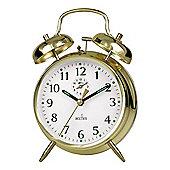 Actim 12628 Saxon Large Bell Alarm Clock - Brass