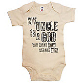 Dirty Fingers My Uncle is a God you must Bow before Him Baby Bodysuit - Cream