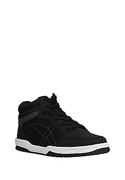 F&F Lace-Up High Top Trainers - Black