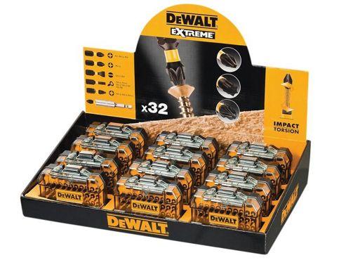 DEWALT Counter Top Display Torsion 32 Piece Screwdriving Kit x 12 DEWDT70523TM