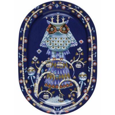 Iittala Taika Blue Oval Serving Platter 41cm