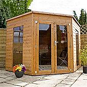 Premier Tongue & Groove Corner Summerhouse Garden Wooden Summerhouse