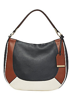 F&F Colour Block Panel Hobo Bag