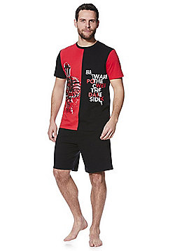Star Wars Slogan Short Pyjamas - Black & Red