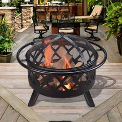 Peaktop Outdoor Garden Patio Heater Steel Fire Pit Firepit CU296