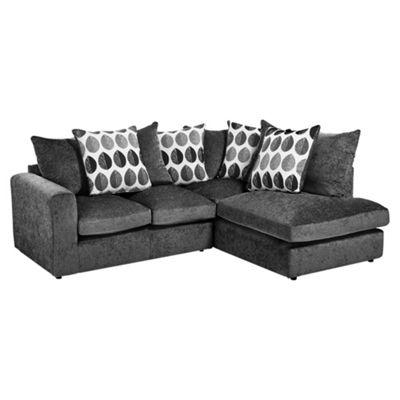 Whitton Scatterback Right Hand Corner Sofa, Dark Grey
