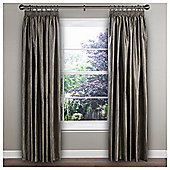 Ripple Texture Lined Pencil Pleat Curtains, Cactus Green (46 x 54'') - Silver