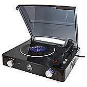 GPO Stylo Turntable with Built in Speakers - Black