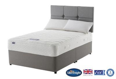 Silentnight Knightsbridge Double Divan Bed, Non-Storage, Miracoil Geltex