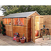 Overlap Apex Shed With Double Doors Garden Wooden Shed