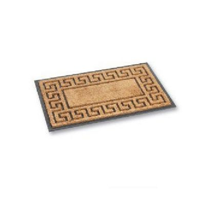 Greek Key Design Welcome / Entrance Door Mat NON SLIP - 45 x 75cm - Rubber Base