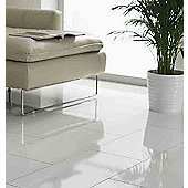 Westco 8mm Glossy White Tile Laminate Flooring