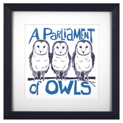 Animal Friends Framed Print - Owls