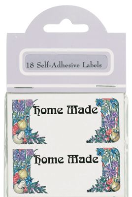 Traditional Herb Design Self Adhesive Home Made Labels, Pack of 18