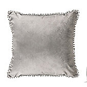 Slate Malia Soft Velvet Cushion 18""