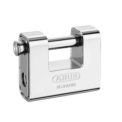 92/80 80mm Monoblock Brass Body Shutter Padlock Carded