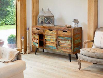 Coastal Chic Wooden Large Sideboard - Baumhaus