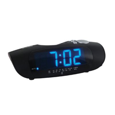 Lloytron J414 Impressions' 1.2' Jumbo Blue Led AM/FM Clock Radio
