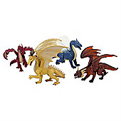 Mythical Set of 4 Dragon Figurine Toys by Animal Planet