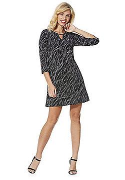F&F Glitter Swirl Dress - Black & Silver