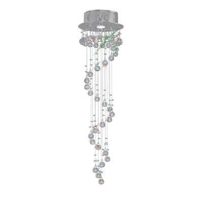 Colorado Pendant Multi-SPIRal 1 Light Polished Chrome/Crystal