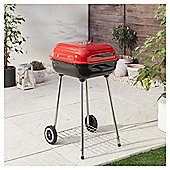 Tesco 47cm Square Charcoal Kettle BBQ, Red