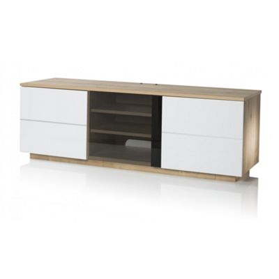 UK-CF New London Oak/White TV stand for up to 65 inch TVs