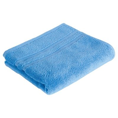 Tesco 100% Combed Cotton Hand Towel Cotton Blue