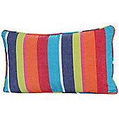 Homescapes Cotton Multi Coloured Stripe Scatter Cushion, 30 x 50 cm