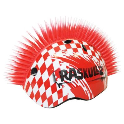 Mohican Helmet Boys Red/White