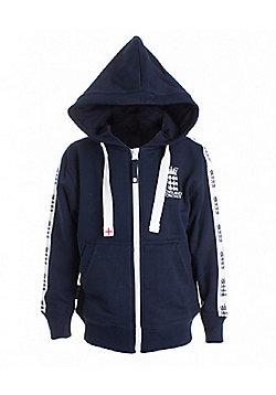 ECB England Cricket Kids Full Zip Hoodie | Navy - Navy