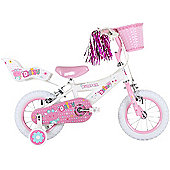 "Bumper Daisy 12"" Pavement Bike White/Pink"
