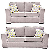 Boston 2.5-Seater + 3 Seater Sofa Set, Pink