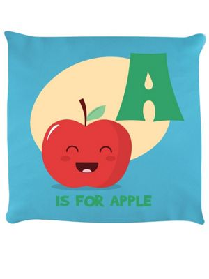 A Is For Apple Cushion 40x40cm, Sky Blue
