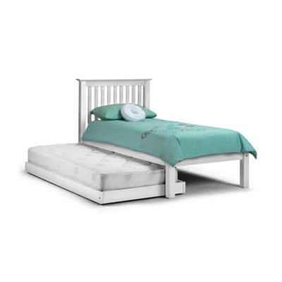Premier Hideaway Stone White Traditional Shaker Style Bed + Underbed - 2 x Single Low Foot End - 3ft (90cm)