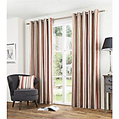 Fusion Melrose Stripe Spice 90x90 Eyelet Lined Curtain
